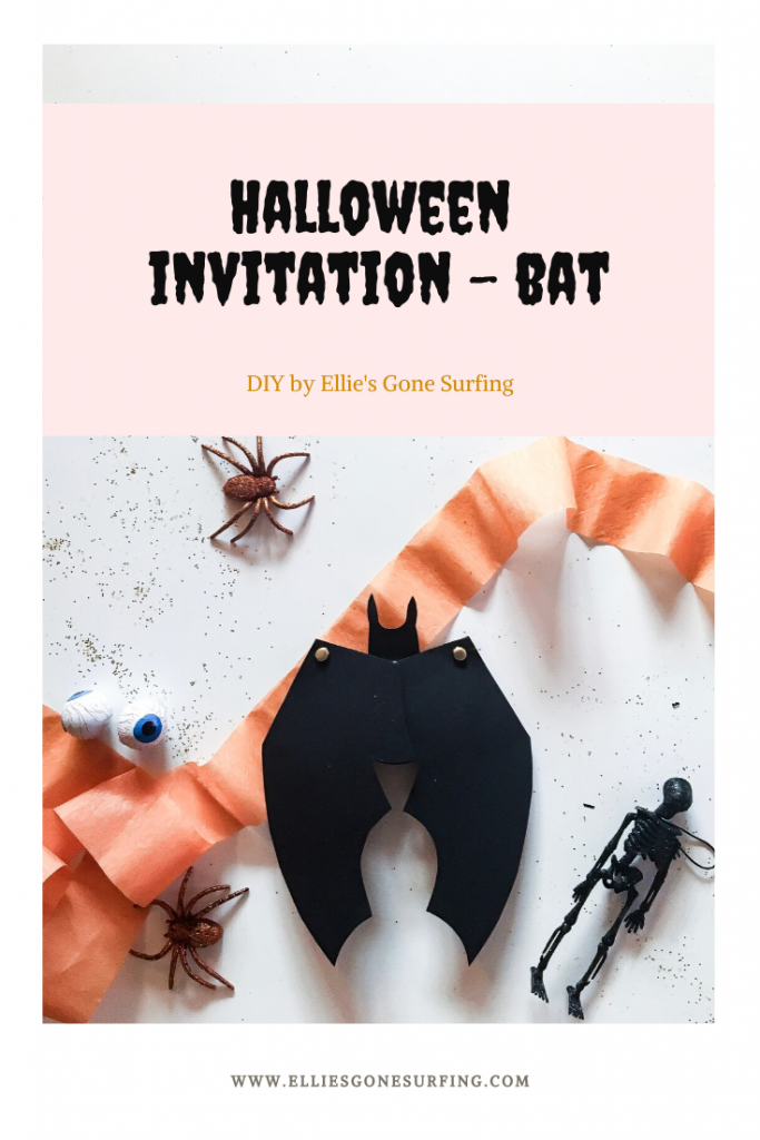DIY Halloween Invitation Flagermus / Bat