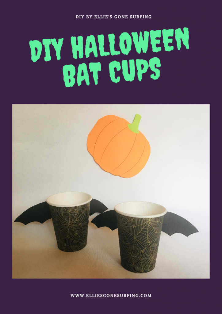 DIY: Halloween cups - bat