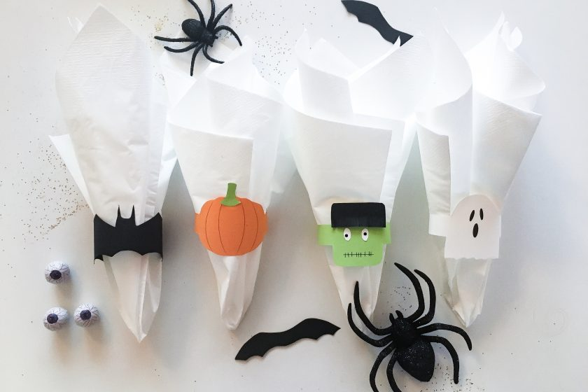 DIY Halloween servietringe napkin rings